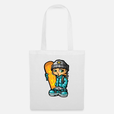 Mp3 Snowboarders and mp3 - Tote Bag