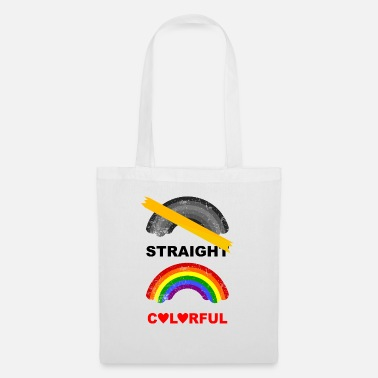 straight colorful LGBT rainbow CSD - Tote Bag