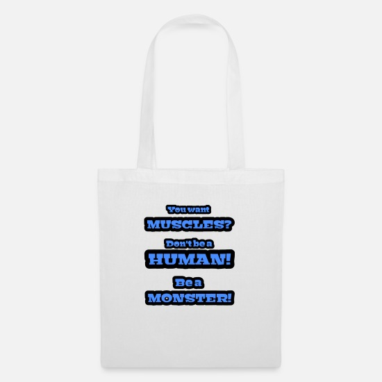 Body Builder Bags & Backpacks - muscles - Tote Bag white