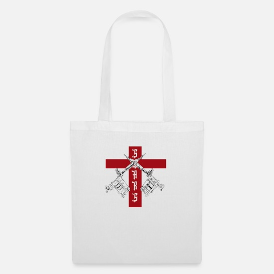Guitar Player Bags & Backpacks - SCARS RED BIG - Tote Bag white