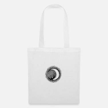 bird in the moon - Tote Bag