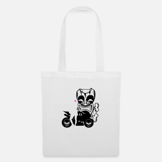 Tiki Bags & Backpacks - tiki motorcycle style - Tote Bag white