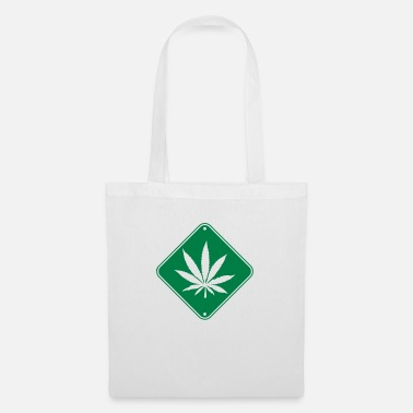 Traffic Sign Weed Zone Notice - Tote Bag