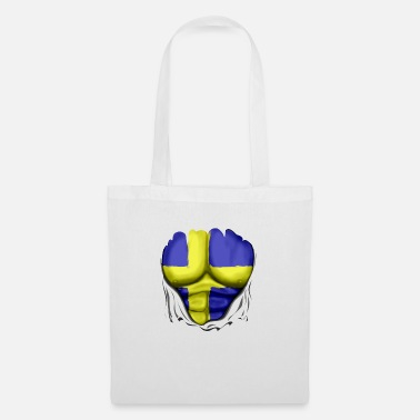 Pack Sweden Flag Ripped Muscles, six pack, chest - Tote Bag