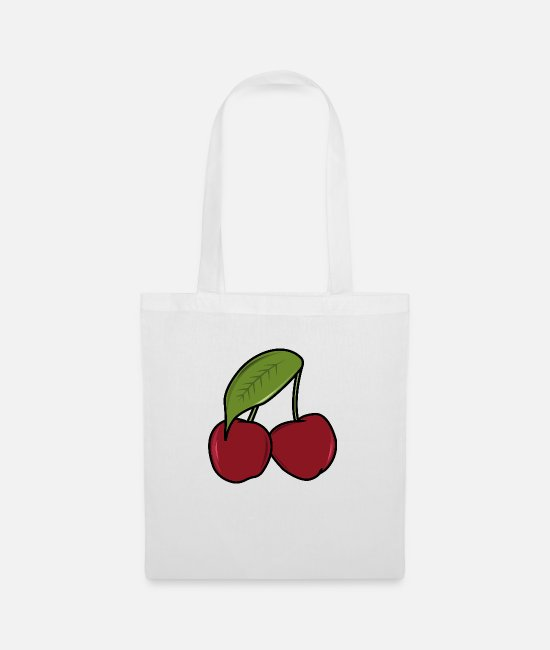 Red Bags & Backpacks - cherry - Tote Bag white