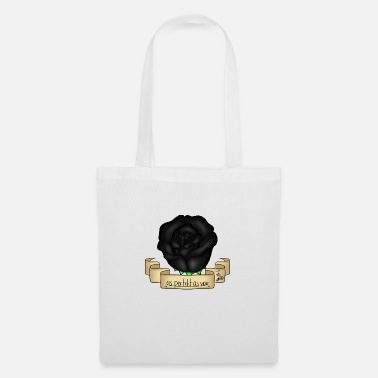 Rose Black - Tote Bag