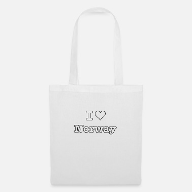 Famous I love Norway just boarder black - Tote Bag