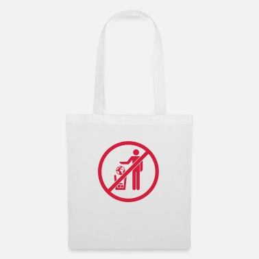 Alive planet no earth garbage bin pictogram abfa - Tote Bag