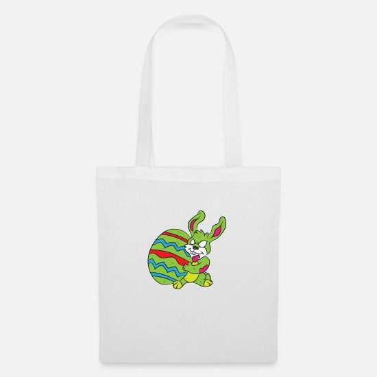 Zombie Apocalypse Bags & Backpacks - Apocalyptic Easter Bunny - Tote Bag white
