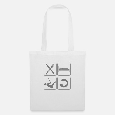 Silhouette repeat rocking daily eat sleep silh - Tote Bag