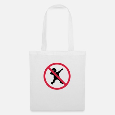 Comic forbidden sign no dabbing warning silhouette ta - Tote Bag
