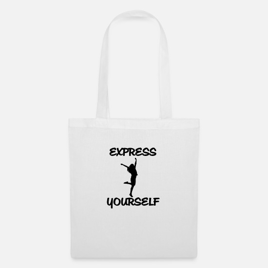 Man Bags & Backpacks - Express yourself! Be yourself - Tote Bag white