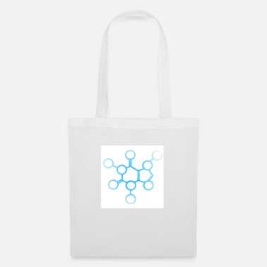 Caffeine molecule blue / white - Tote Bag