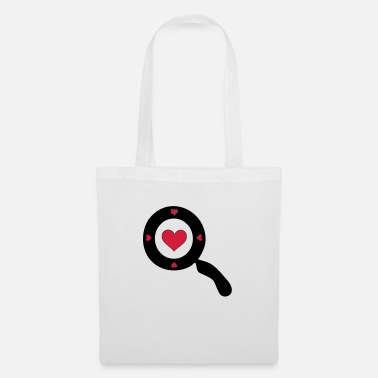 Comics ✔❤Vector Magnifying glass with a Heart design❤✔ - Tote Bag