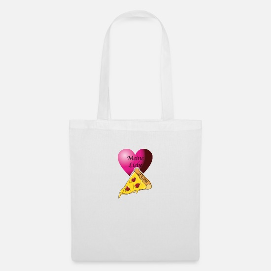 Love Bags & Backpacks - My love of pizza - Tote Bag white
