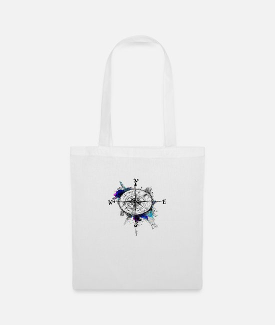 Circular Bags & Backpacks - NORTH AND SOUTH - Tote Bag white