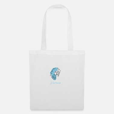 Sun Signs Aquarius Zodiac Sign Line Art - Tote Bag