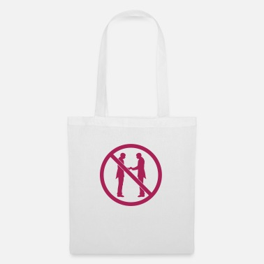 Warning Forbidden sign gay be wedding warning no - Tote Bag