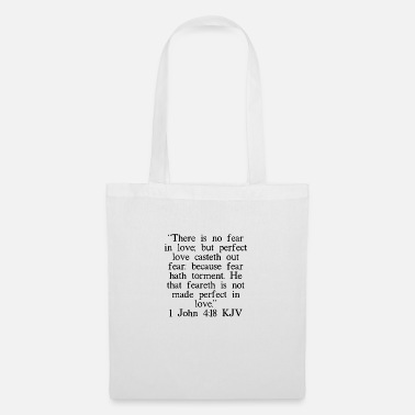 Book 1 John 4:18 KJV - Tote Bag