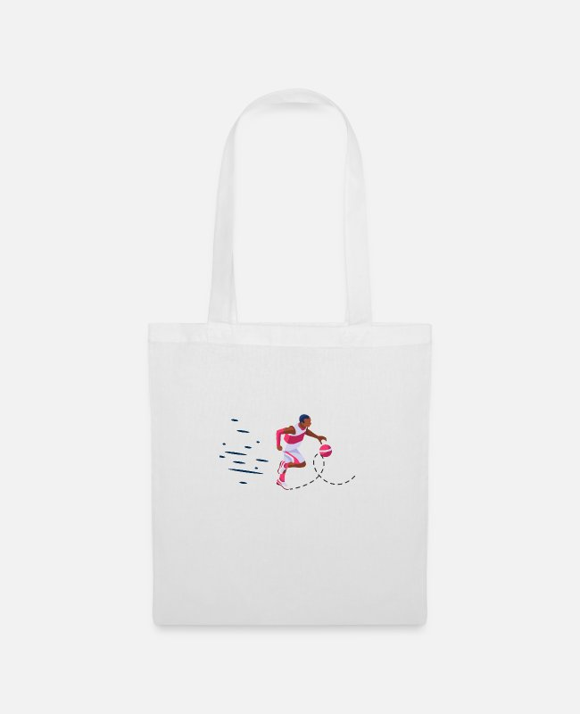 Middle School Bags & Backpacks - offense against man to man defense - Tote Bag white