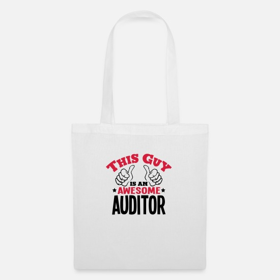 Accountant Bags & Backpacks - this guy is an awesome auditor 2col - Tote Bag white