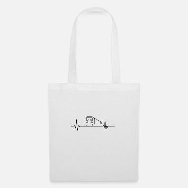 Humor Subway heartbeat pulse metro train lover - Tote Bag