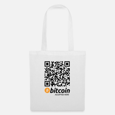 Bitcoin Bitcoin-Shirt mit QR-Code Bitcoin accepted here - Stoffbeutel