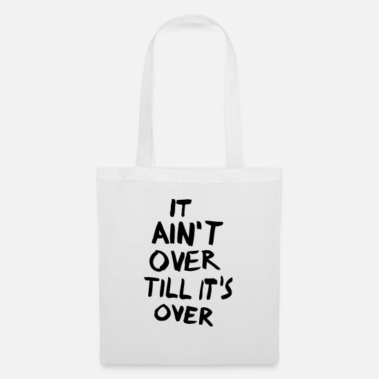 It Is Not About Till It's About Bags & Backpacks - It is not about till it's about - Tote Bag white