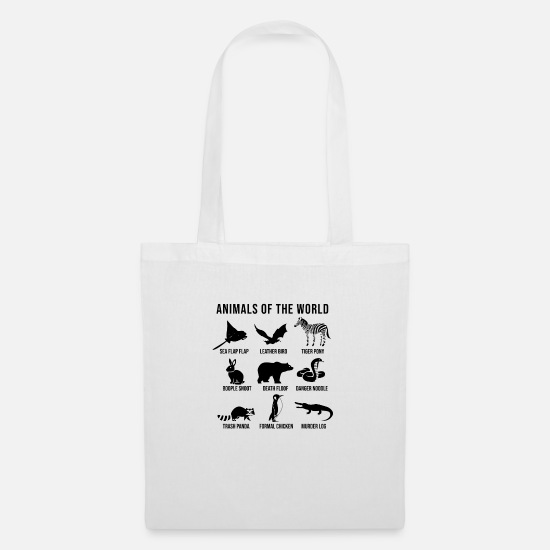 Popular Bags & Backpacks - Animals Of The World - Tote Bag white