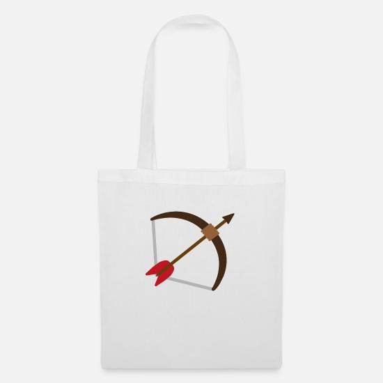Arrow And Bow Bags & Backpacks - Bow and arrow - bow and arrow - Tote Bag white