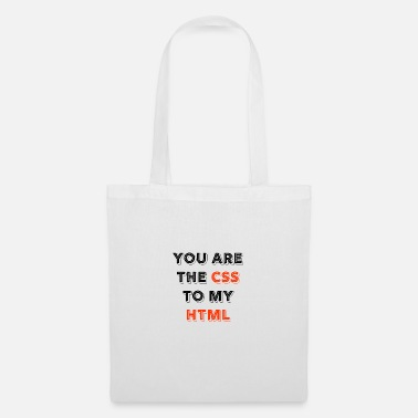 Programmemer You Are The CSS To My Html - web developer love - Tote Bag