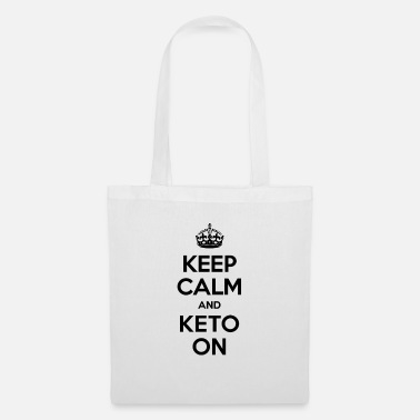 Keep Calm And Keto On Ketogenic Diet Fitness - Tote Bag