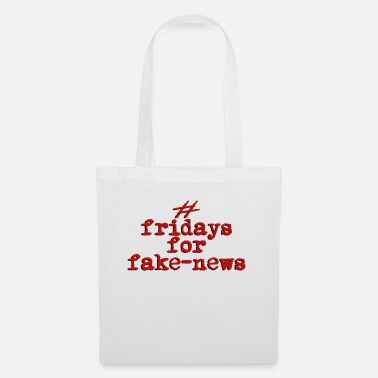 fridays for fake news, retro red - Tote Bag