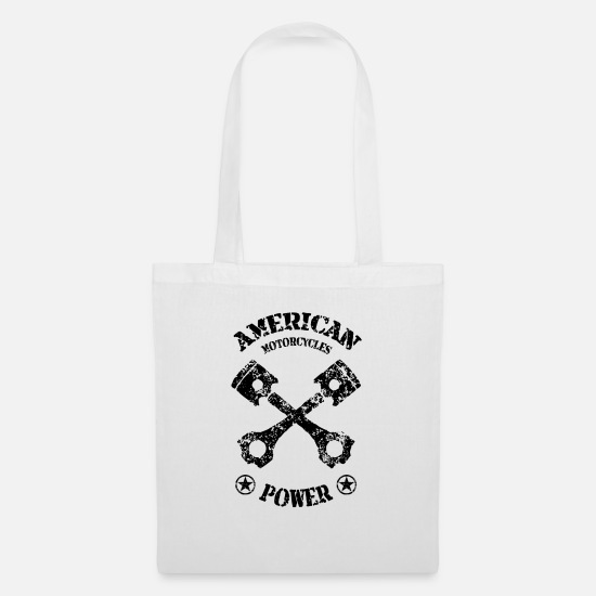 Motorcycle Bags & Backpacks - american motorcycles power 01 - Tote Bag white