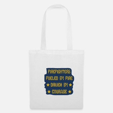 Fire Fighter Firefighter fuel courage gift - Tote Bag