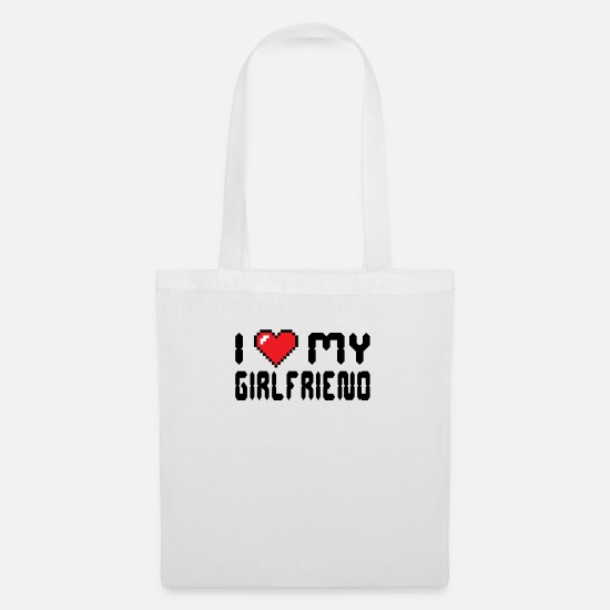 Love Bags & Backpacks - Declaration of love girlfriend - Tote Bag white
