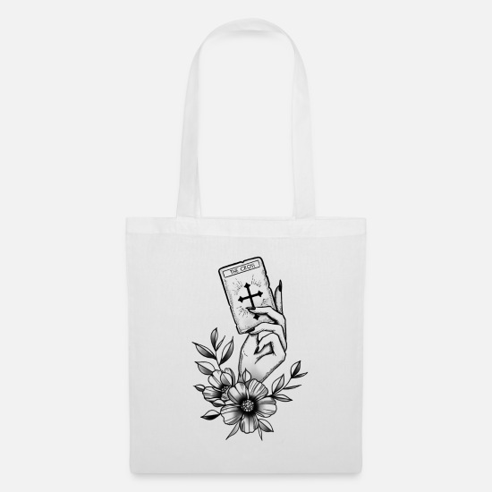 Tattoo Bags & Backpacks - The Cross - Tote Bag white