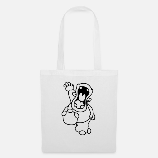 Miscellaneous Bags & Backpacks - Hello Hippo! - Tote Bag white