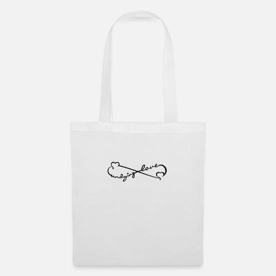 Romantic Bags & Backpacks - undying love (1c) - Tote Bag white