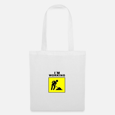 Construction Worker Construction worker design with slogan - Tote Bag