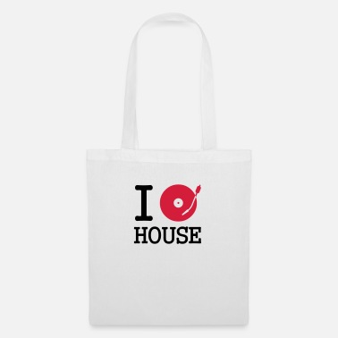 House i dj / play / listen to house - Sac en tissu