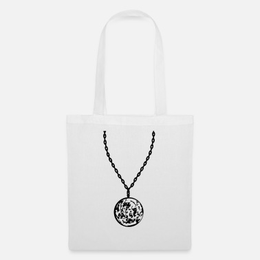 Necklace moon jewelry necklace planet dwarf planet trabant - Tote Bag