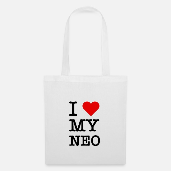 Love Bags & Backpacks - i love my neo - Tote Bag white