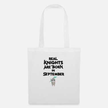 Woman Sloth Knights born in September - Tote Bag