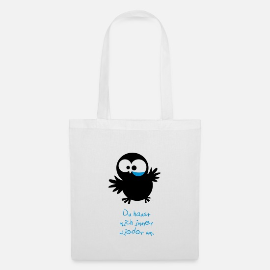 Owl Bags & Backpacks - An owl / / You knock me around again and again. - Tote Bag white