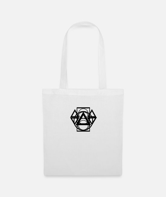 Geometry Bags & Backpacks - abstract - Tote Bag white