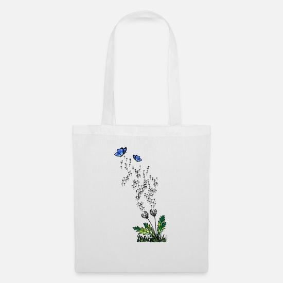 Green Bags & Backpacks - dandelion - Tote Bag white