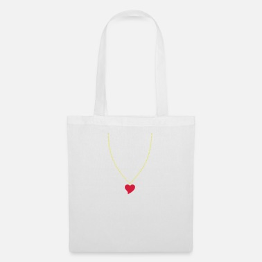 Necklace Heart Necklace - Tote Bag