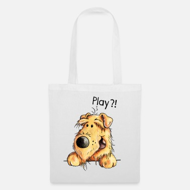 Cute Pets Airedale Terrier - Dog - Cartoon - Gift Dogs - Tote Bag