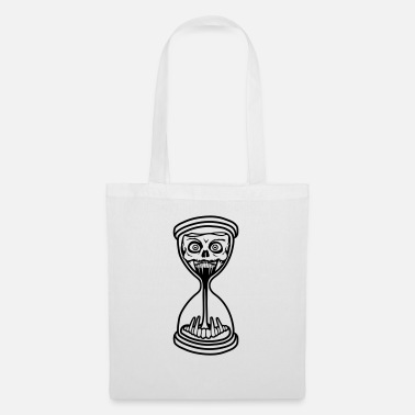Hour Glass hourglass monster horror halloween scary boese se - Tote Bag